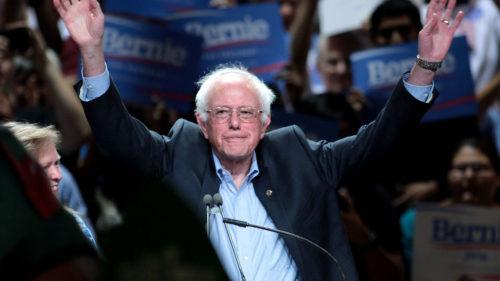 Bernie Sanders Campaigning