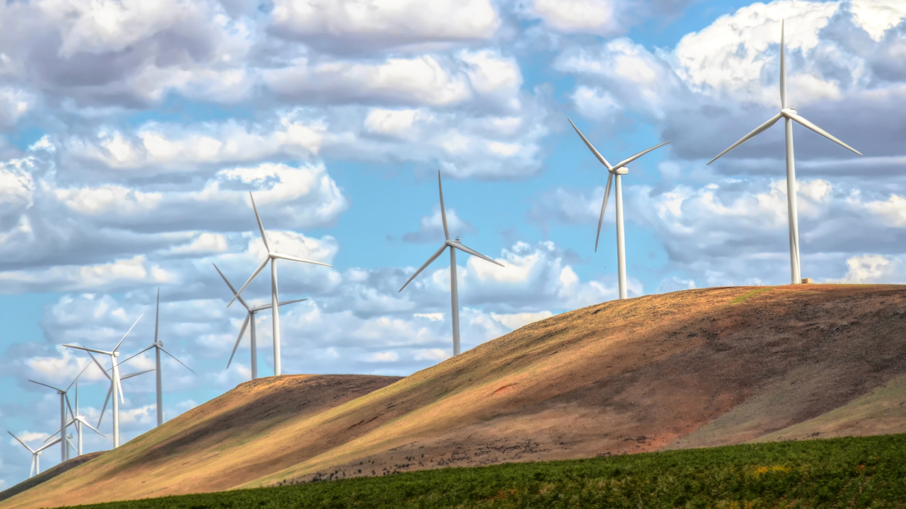 Wind Farm on Hill